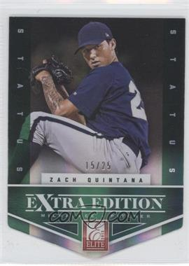 2012 Elite Extra Edition Status Emerald Die-Cut #41 - Zach Quintana /25