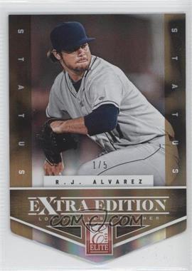 2012 Elite Extra Edition Status Gold Die-Cut #186 - R.J. Alvarez /5