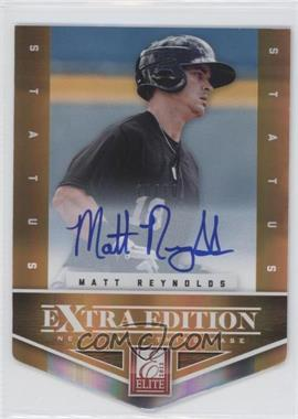 2012 Elite Extra Edition Status Orange Die-Cut Signatures #192 - Matt Reynolds /10