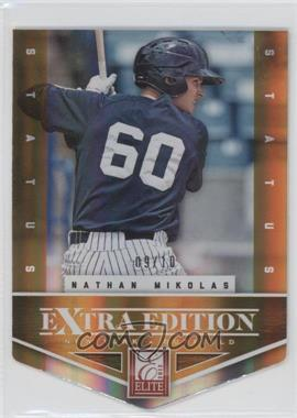 2012 Elite Extra Edition Status Orange Die-Cut #42 - Nathan Mikolas /10