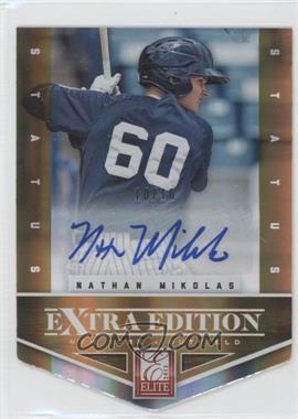2012 Elite Extra Edition Status Orange Die-Cut #42 - Nathan Mikolas /10