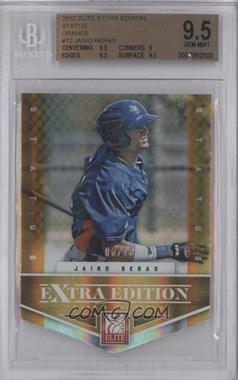 2012 Elite Extra Edition Status Orange Die-Cut #72 - Jairo Beras /10 [BGS 9.5]