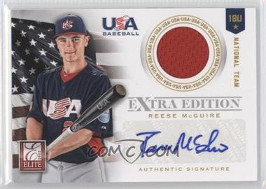 2012 Elite Extra Edition USA Baseball 18U Team Jersey Signatures #12 - Reese McGuire /249