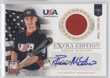 2012 Elite Extra Edition USA Baseball 18U Team Jersey Signatures #12 - Reese McGuire /249