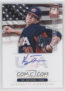 2012 Elite Extra Edition USA Baseball 18U Team Signatures #KT - Keegan Thompson /299