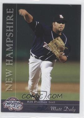 2012 Grandstand New Hampshire Fisher Cats - [Base] #NoN - Matt Daly