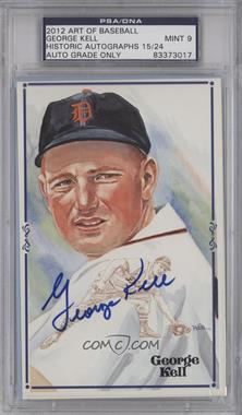 2012 Historic Autographs Art of Baseball Autographed Art Postcards #N/A - George Kell /24 [PSA/DNA Certified Auto]