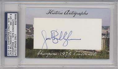 2012 Historic Autographs Champions Cut Autographs - [Base] - [Autographed] #JABI - Jack Billingham /7 [PSA/DNACertifiedAuto]