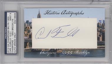 2012 Historic Autographs Champions Cut Autographs [Autographed] #CAFU - Carl Furillo /21 [PSA/DNACertifiedAuto]