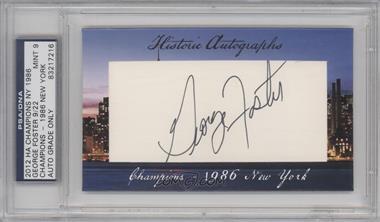2012 Historic Autographs Champions Cut Autographs [Autographed] #GEFO - George Foster /22 [PSA/DNACertifiedAuto]