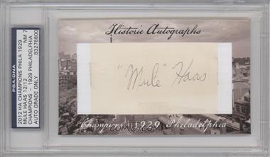 2012 Historic Autographs Champions Cut Autographs [Autographed] #MUHA - Mule Haas /12 [PSA/DNACertifiedAuto]