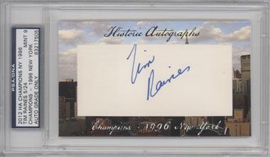 2012 Historic Autographs Champions Cut Autographs [Autographed] #TIRA - Tim Raines /24 [PSA/DNACertifiedAuto]