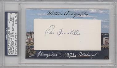 2012 Historic Autographs Champions Cut Autographs [Autographed] #VIDA - Vic Davalillo /6 [PSA/DNACertifiedAuto]