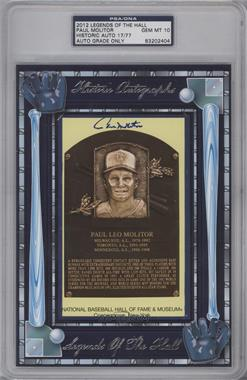 2012 Historic Autographs Legends of the Hall Cut Autographs [Autographed] #PAMO - Paul Molitor /77 [PSA/DNA Certified Auto]