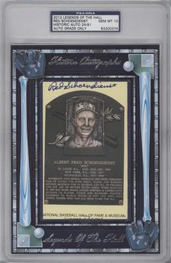 2012 Historic Autographs Legends of the Hall Cut Autographs [Autographed] #RESC - Red Schoendienst /91 [PSA/DNA Certified Auto]