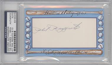 2012 Historic Autographs The Decades - 1950s Edition - Authentic Cut Signature #77 - Phil Rizzuto /10 [PSA/DNACertifiedAuto]