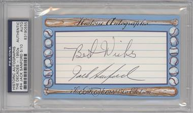 2012 Historic Autographs The Decades - 1950s Edition - Authentic Cut Signature #84 - Jack Sanford /10 [ENCASED]