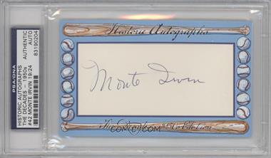 2012 Historic Autographs The Decades - 1950s Edition Authentic Cut Signature #42 - Monte Irvin /24 [PSA/DNA Certified Auto]