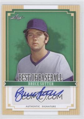 2012 Leaf Best of Baseball - [Base] - Autographs [Autographed] #BA-BS1 - Bruce Sutter