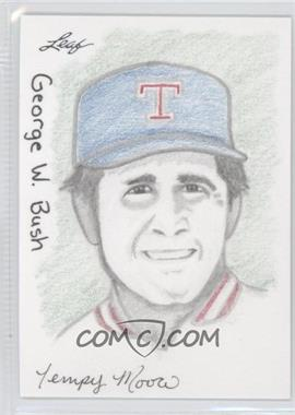 2012 Leaf Best of Baseball - Sketch #GBTM - George W. Bush (Tempy Moore) /1