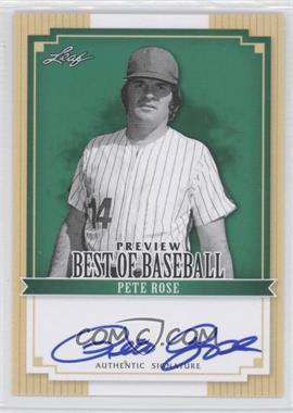 2012 Leaf Best of Baseball [???] #BA-1 - Pete Rose