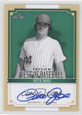 2012 Leaf Best of Baseball Autographs [Autographed] #BA-BBP1 - Pete Rose