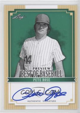 2012 Leaf Best of Baseball Autographs [Autographed] #BA-BBP1 - Pete Rose