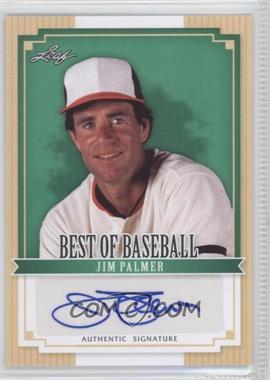 2012 Leaf Best of Baseball Autographs [Autographed] #BA-JP1 - Jim Palmer