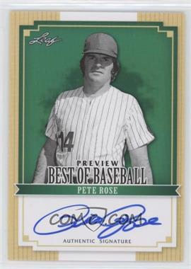 2012 Leaf Best of Baseball Preview Autographs [Autographed] #BBP1 - Pete Rose