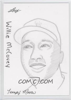 2012 Leaf Best of Baseball Sketch #1 - Willie McCovey /1