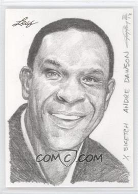 2012 Leaf Best of Baseball Sketch #N/A - Andre Dawson /1