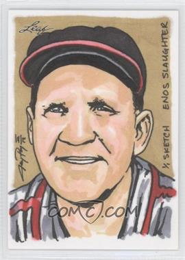 2012 Leaf Best of Baseball Sketch #N/A - Enos Slaughter /1