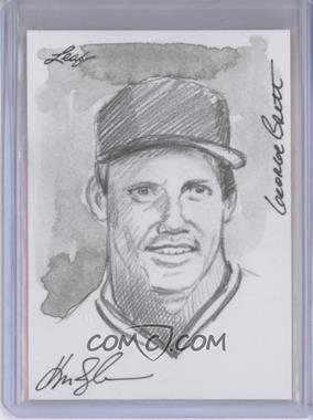 2012 Leaf Best of Baseball Sketch #N/A - George Brett /1