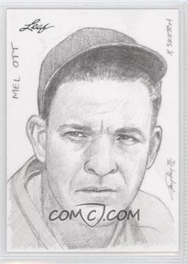 2012 Leaf Best of Baseball Sketch #N/A - Mel Ott /1