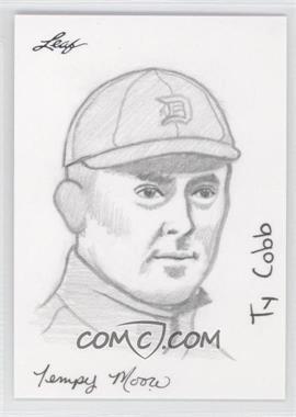 2012 Leaf Best of Baseball Sketch #N/A - Ty Cobb /1