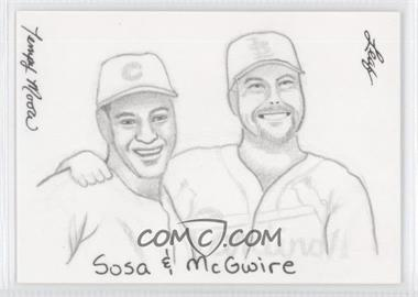 2012 Leaf Best of Baseball Sketch #SMTM - Sammy Sosa, Mark McGwire (Tempy Moore) /1