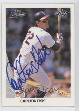 2012 Leaf Memories - 1990 Leaf Buy Back - [Autographed] #10 - Carlton Fisk /72