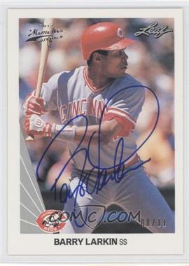 2012 Leaf Memories - 1990 Leaf Buy Back - [Autographed] #18 - Barry Larkin /11