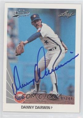 2012 Leaf Memories - 1990 Leaf Buy Back - [Autographed] #346 - Danny Darwin /44