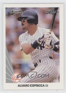2012 Leaf Memories - 1990 Leaf Buy Back - Gold Foil #240 - Alvaro Espinoza /5