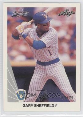 2012 Leaf Memories - 1990 Leaf Buy Back - Silver Foil #157 - Gary Sheffield /20