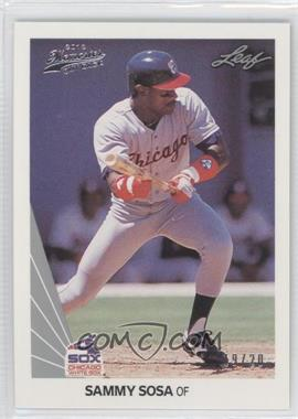 2012 Leaf Memories - 1990 Leaf Buy Back - Silver Foil #220 - Sammy Sosa /20