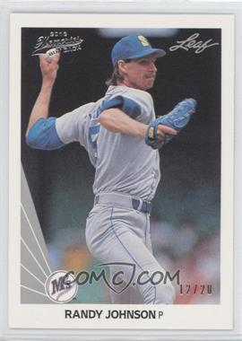 2012 Leaf Memories - 1990 Leaf Buy Back - Silver Foil #483 - Randy Johnson /20