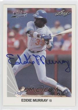 2012 Leaf Memories 1990 Leaf Buy Back [Autographed] #181 - Eddie Murray /33
