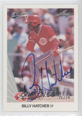 2012 Leaf Memories 1990 Leaf Buy Back [Autographed] #241 - Billy Hatcher /28