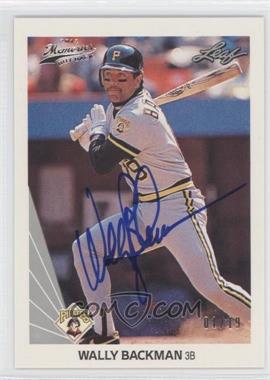 2012 Leaf Memories 1990 Leaf Buy Back [Autographed] #341 - Wally Backman /19