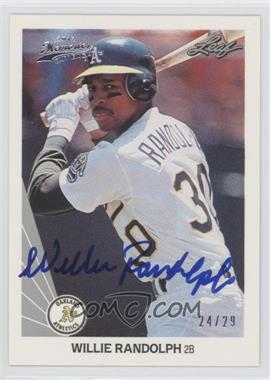 2012 Leaf Memories 1990 Leaf Buy Back [Autographed] #345 - Willie Randolph /29