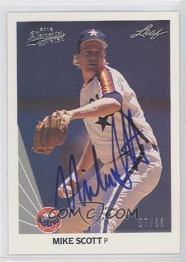 2012 Leaf Memories 1990 Leaf Buy Back [Autographed] #4 - Mike Scott /33