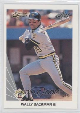 2012 Leaf Memories 1990 Leaf Buy Back Gold Foil #341 - Wally Backman /5