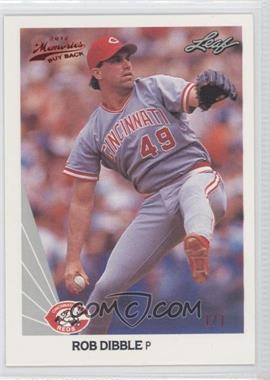 2012 Leaf Memories 1990 Leaf Buy Back Red Foil #57 - Rob Dibble /1